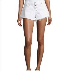 NWT Veronica Beard Debbie White Denim Shorts, 27